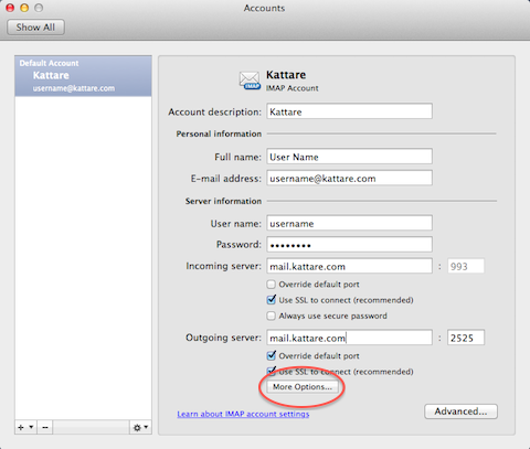 how to add folder to tab on mac mail